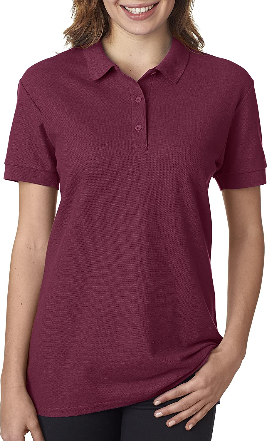82800L Gildan Premium Cotton™ Women's Double Piqué Polo G828L