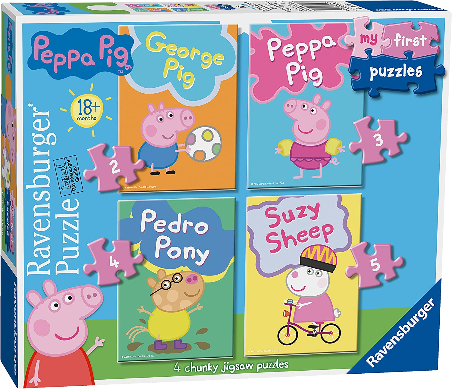 Ravensburger My First Puzzle, Peppa Pig (2, 3, 4 y 5 Piezas ...