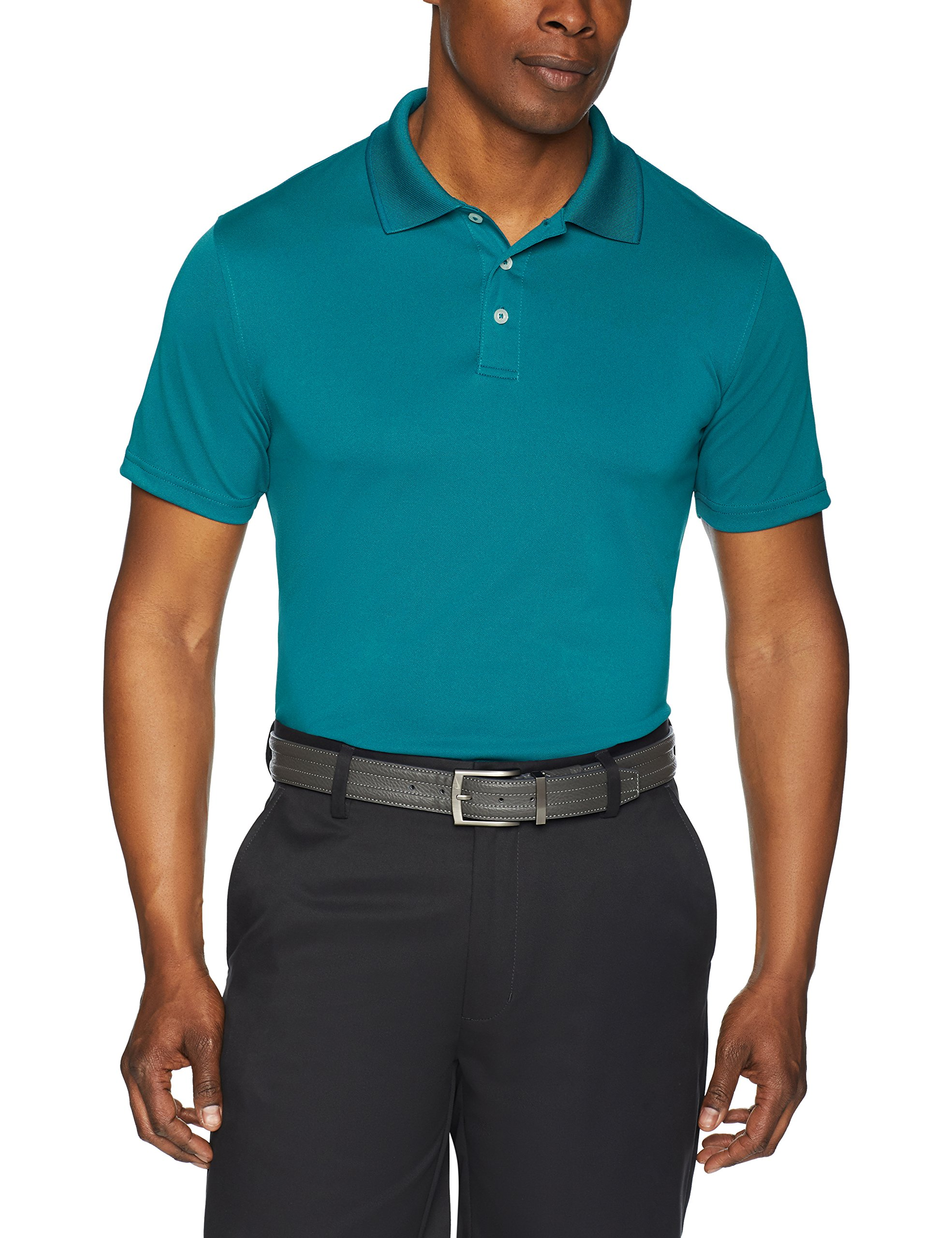1238aad46b35 Amazon Essentials Men's Slim-Fit Quick-Dry Golf Polo Shirt | ExerciseN