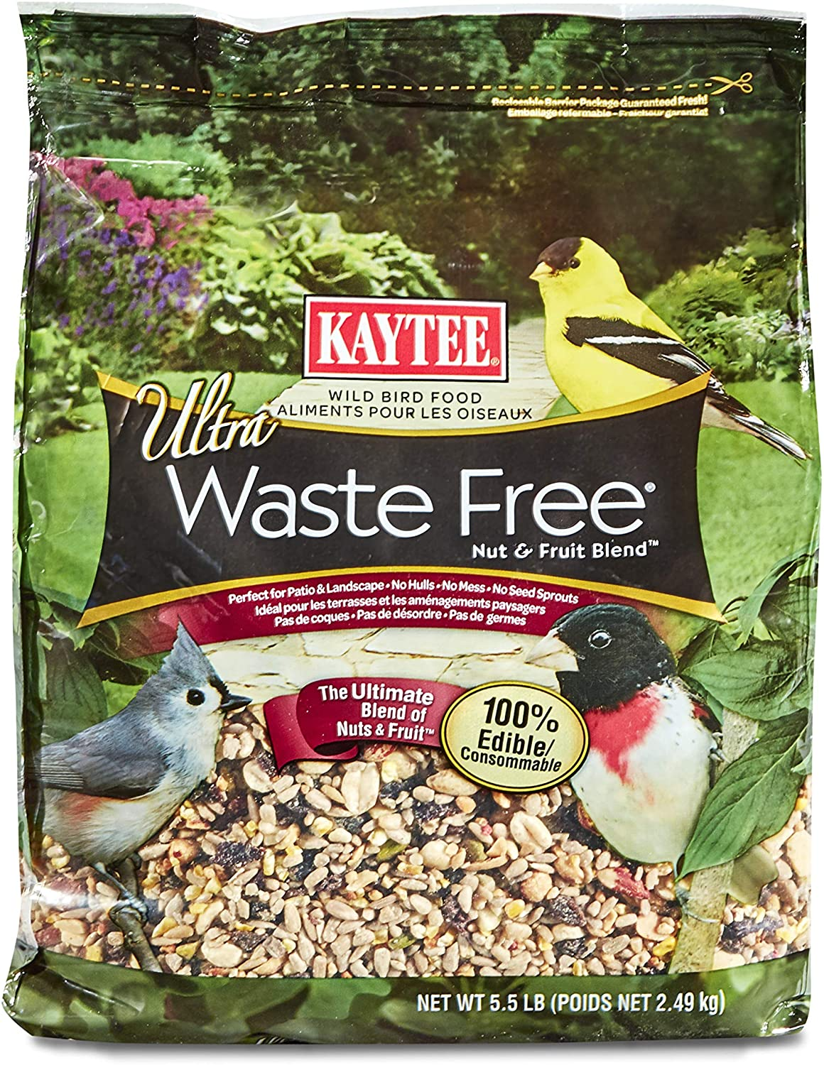 Kaytee Waste Free Nut and Fruit Blend, 5.5-Pound Bag