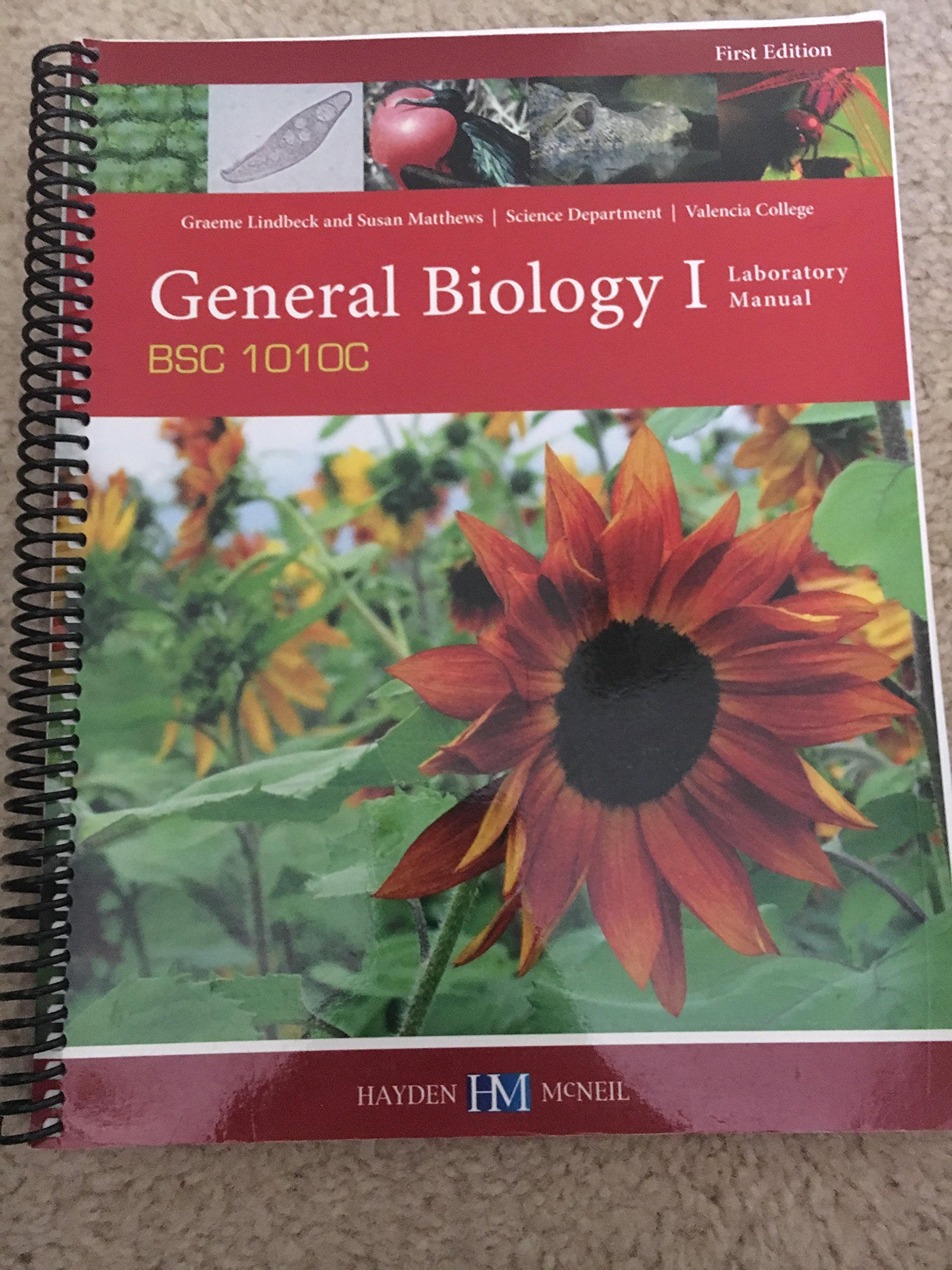 general biology 1 laboratory manual: Valencia college: 9780738079875:  Amazon.com: Books