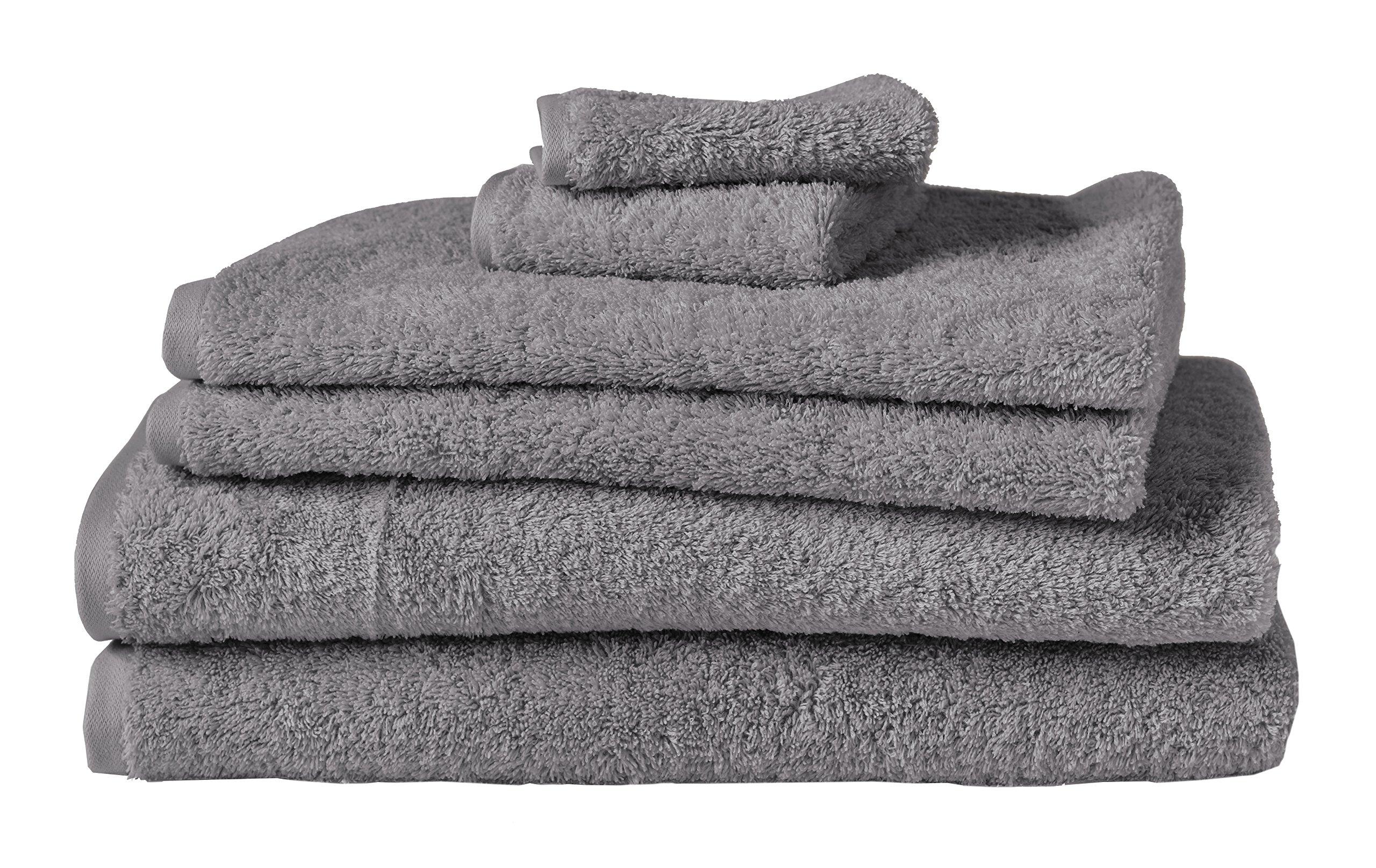 Coyuchi 1019335 6 Piece Organic Cloud Loom Towel Set, Slate