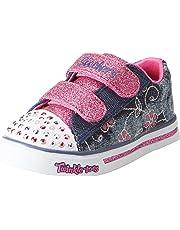 Skechers Sparkle Glitz-Denim Daisy, Zapatillas para Bebés