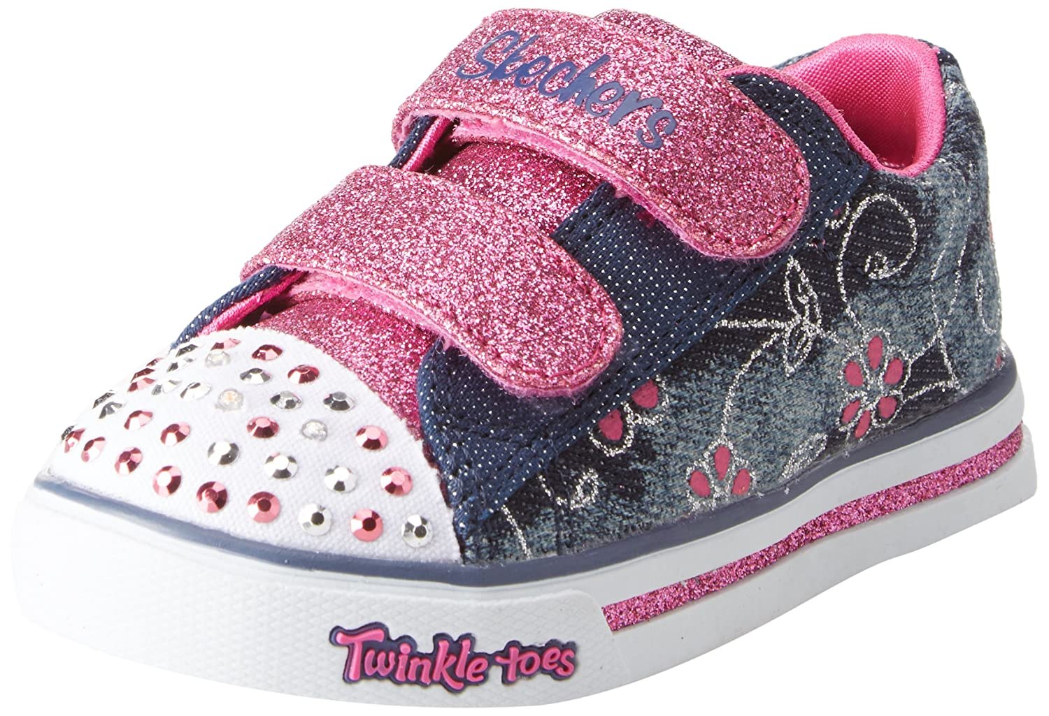 Skechers Sparkle Glitz-Denim Daisy, Baskets bébé Fille