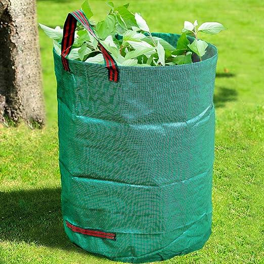 GroundMaster - Bolsas de basura redondas para jardín (400 L, resistentes al agua, con asas): Amazon.es: Hogar
