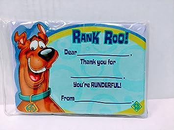 Amazon Com Scooby Doo Ten Thank You Cards And Envelopes Health