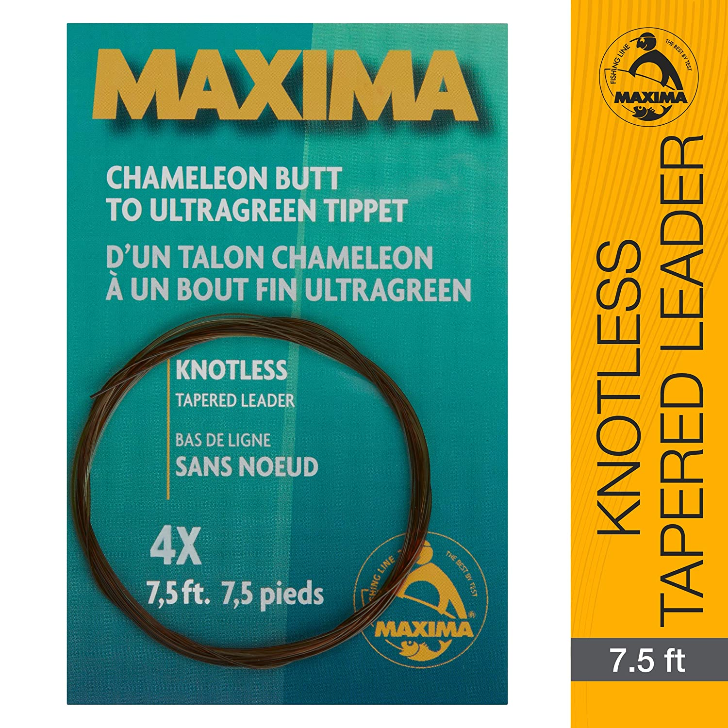 Maxima Fishing Line 7 1 2-Feet Knotless Tapered Leaders