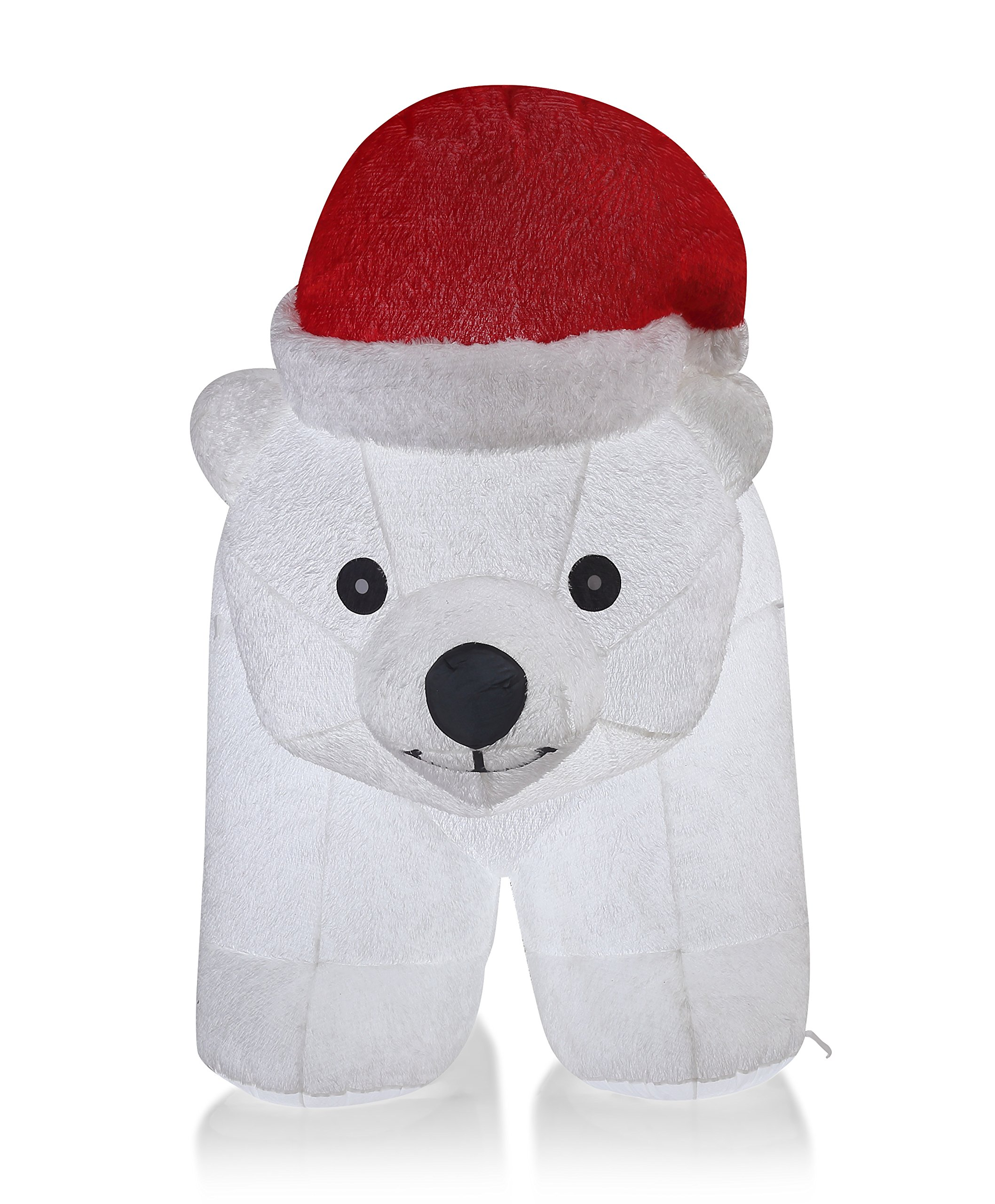 VIDAMORE 6.5 Foot Large Inflatable X-Mas Polar Bear LED Lighted Inflatables Outdoor Holiday Yard Lawn Decorations by Vidamore (Image #2)