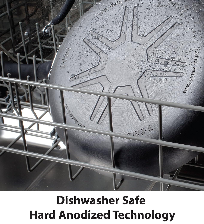 Gray 10.5-Inch T-fal C41205 Endura Granite Ceramic Nonstick Thermo-Spot Heat Indicator Dishwasher Oven Safe PFOA Free Fry Pan Cookware