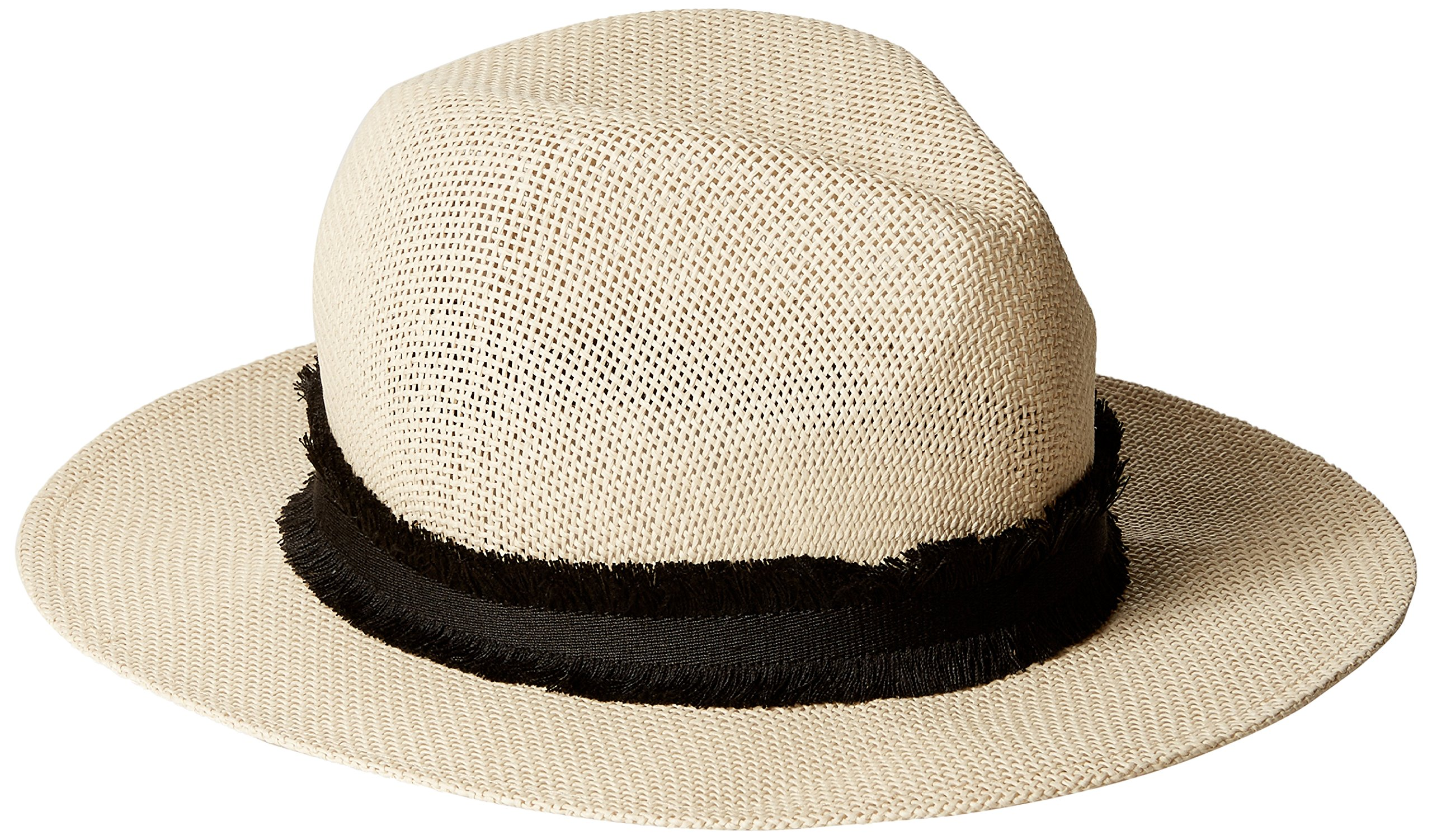 French Connection Women's Riley Fedora, Natural/Black, M/L