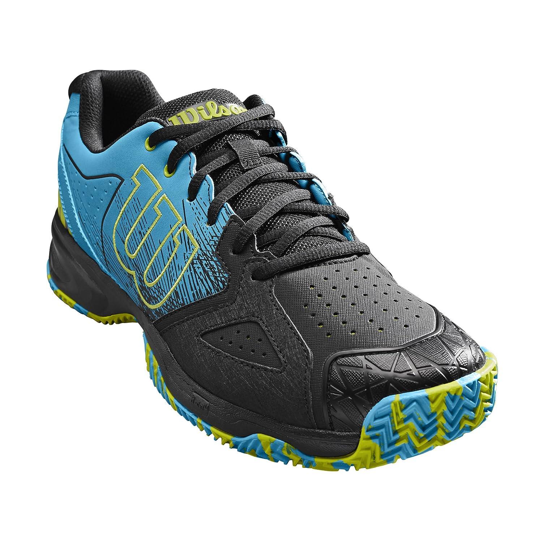 Wilson Homme Chaussures de Tennis, Idéal pour Les Joueurs offensifs, pour Court en Terre battue, KAOS Devo Clay Court, Tissu Synthétique