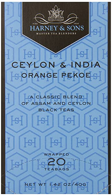 Harney & Sons Black Tea, Orange Pekoe, 20 Tea Bags