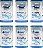 Durex Invisible Kondome, extra dünn für intensives Empfinden, 6er Pack (6 x 12 Stück)