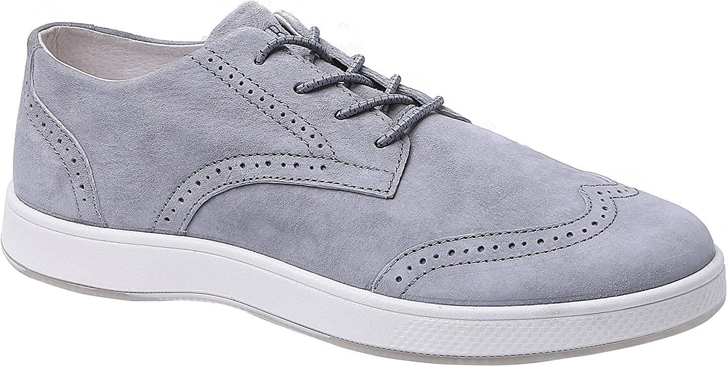 Aureus Mens Supra Nubuck Leather Low Top Oxford Shoe