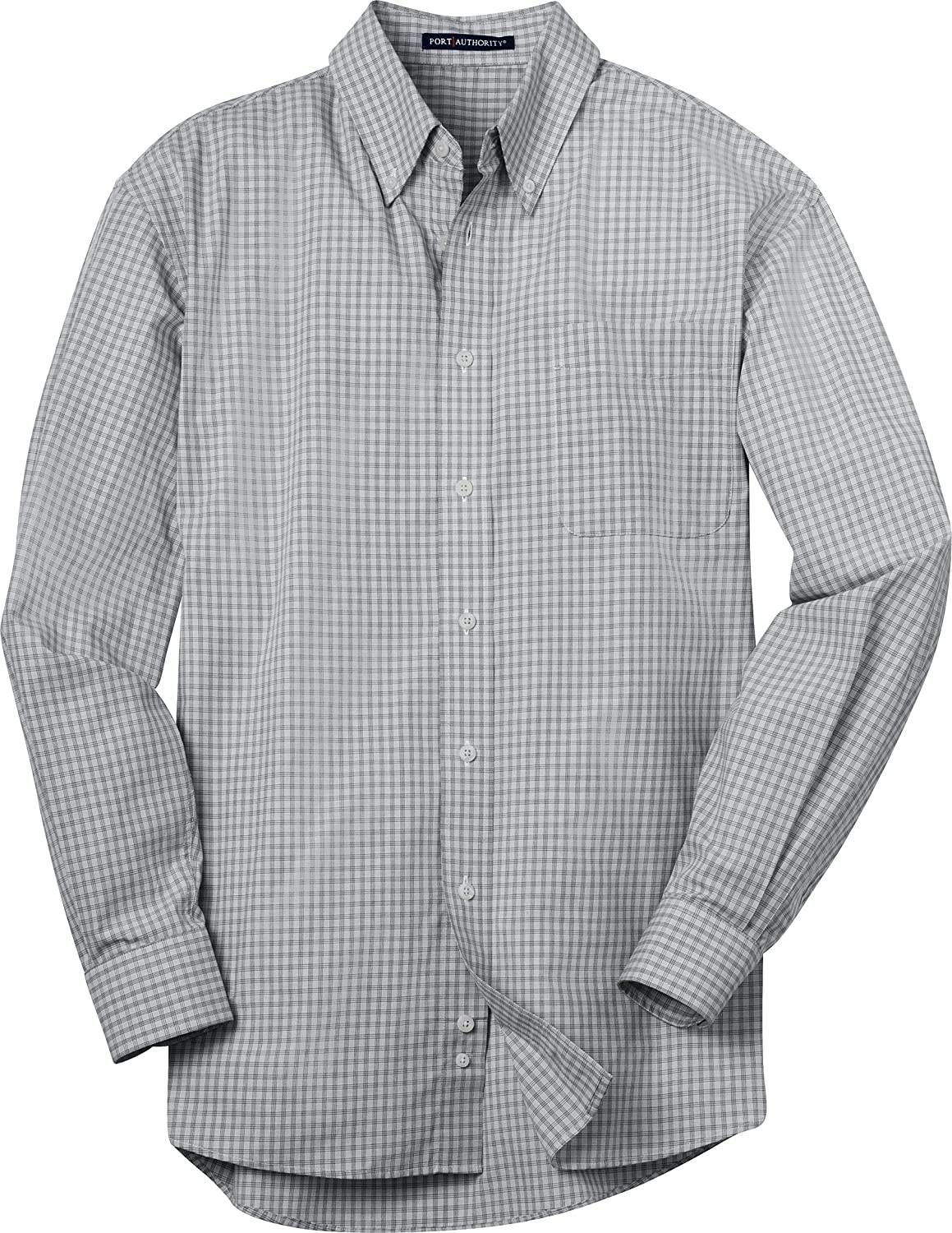 Port Authority Plaid Pattern Easy Care Shirt S639