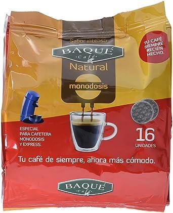 Cafés Baqué Monodosis Natural - 16 Monodosis - [Pack de 5]: Amazon ...