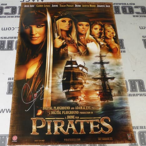 Janine Lindemulder Signed Original Pirates Xxx Movie Poster Digital Playground