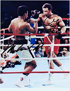 Muhammad Ali & George Foreman, 8 X 10 Autograph Photo on Glossy Photo Paper
