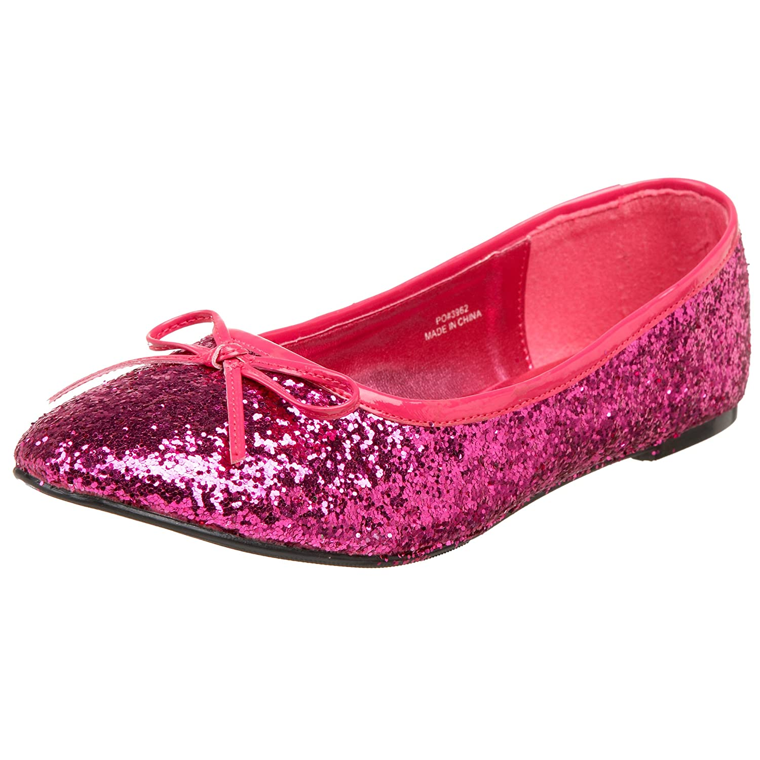 Funtasma by Pleaser Women's Star-16G Flat B002HIYFSG 6 B(M) US|Hot Pink Glitter