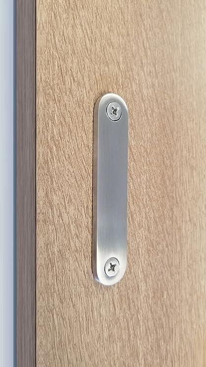 strongar low profile modern stainless steel barn door handles for