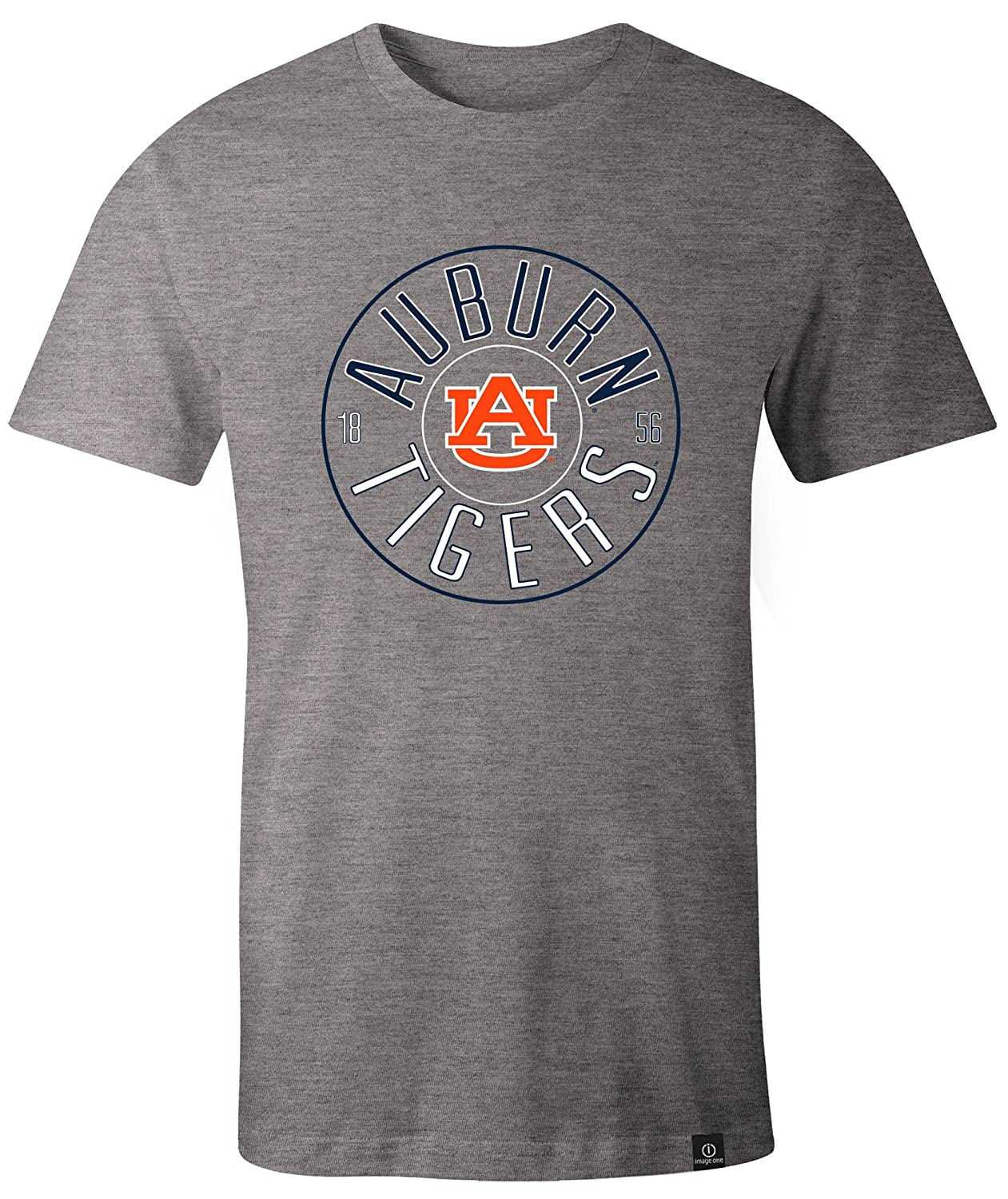 NCAA Auburn Tigers Adult NCAA Circles Image One Everyday Short sleeve T-Shirt X-Large,HeatherGrey