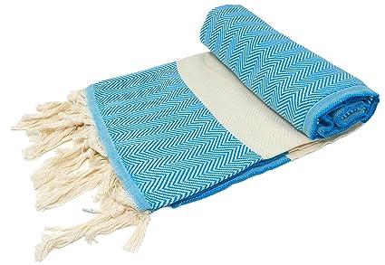 BellaCasa Zig Zag Backpacker Toalla de baño toalla de sauna Pest veces Fouta Toalla de playa