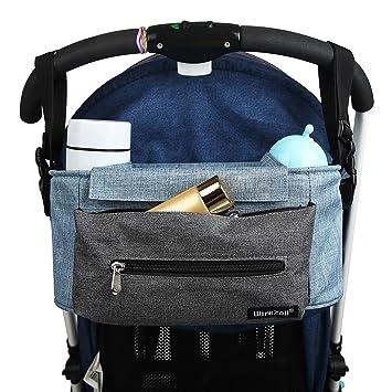 Bolso para Cochecito de bebe compartimientos multifuncionales Organizador para coches de paseo Azul (Azul)