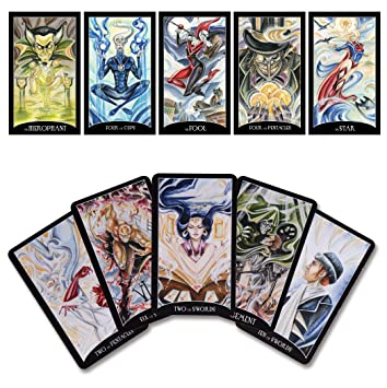 74172dc3dd1f5 Image Unavailable. Image not available for. Color  DC Comics Justice League  Tarot ...