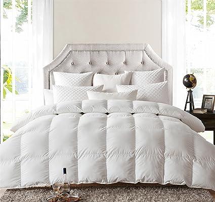egyptian cotton white count cal stripe thread down size product siberian comforter goose king eg
