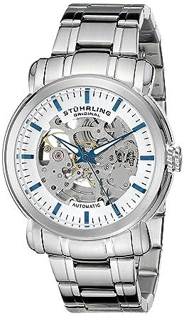 Stührling Original 387.33112 - Reloj para hombre, correa de acero inoxidable, color plateado: Amazon.es: Relojes