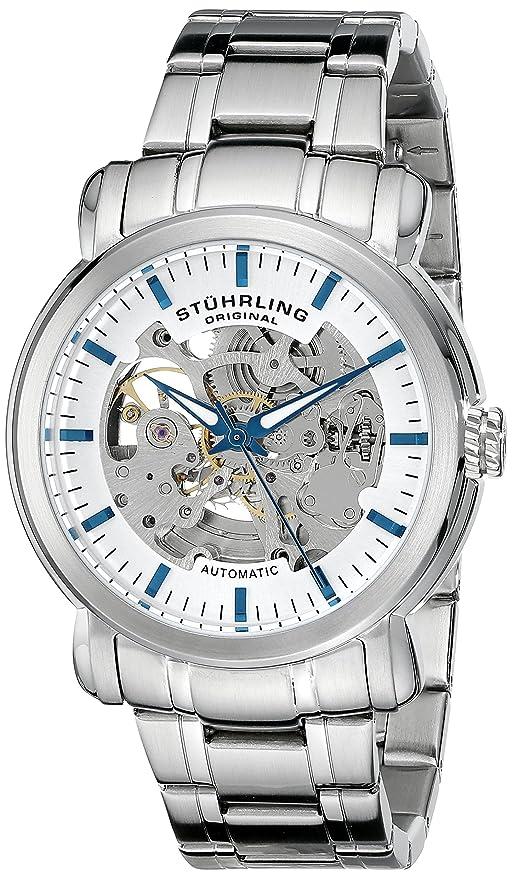 Stuhrling herren armbanduhr aus edelstahl