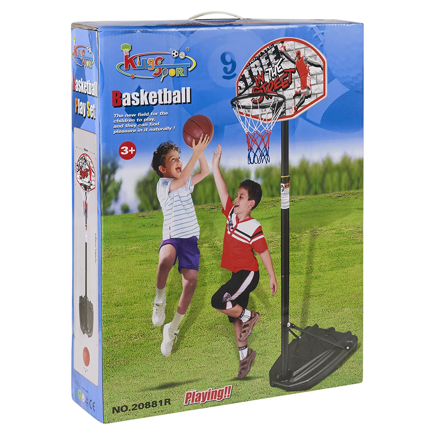 URBN Toys Free Standing In The Street Basketball Set