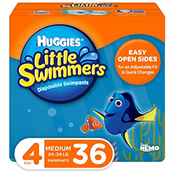 Huggies Little Swimmers 20 Count Disposable Swimpants Diaper Sz 3 16-26 lbs DORY