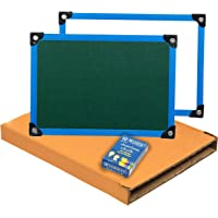 SEPAL 2 in 1 Double Sided Whiteboard and Slate with Chalk for Kids (34 X 22 cm) (Slate with Chalk Board) Colour May Vary