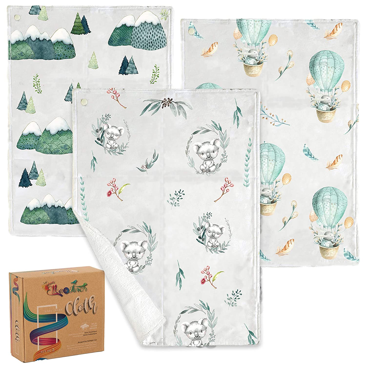 Ultra Soft Burping Cloth Organic Muslin Burp Cloths and Washcloths Set for Boys or Girls 9-Pack Large Burp Cloth Washcloth 9 Layers Extra Absorbent Face Towel Perfect Baby Registry//Shower Gift