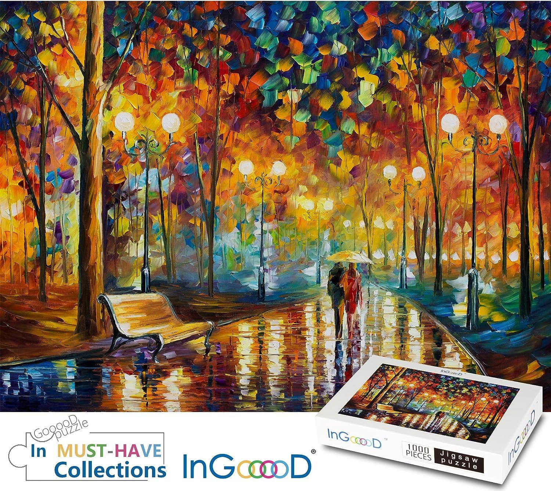 Ingooood Rainy Night Walk paper puzzle 1000 pieces