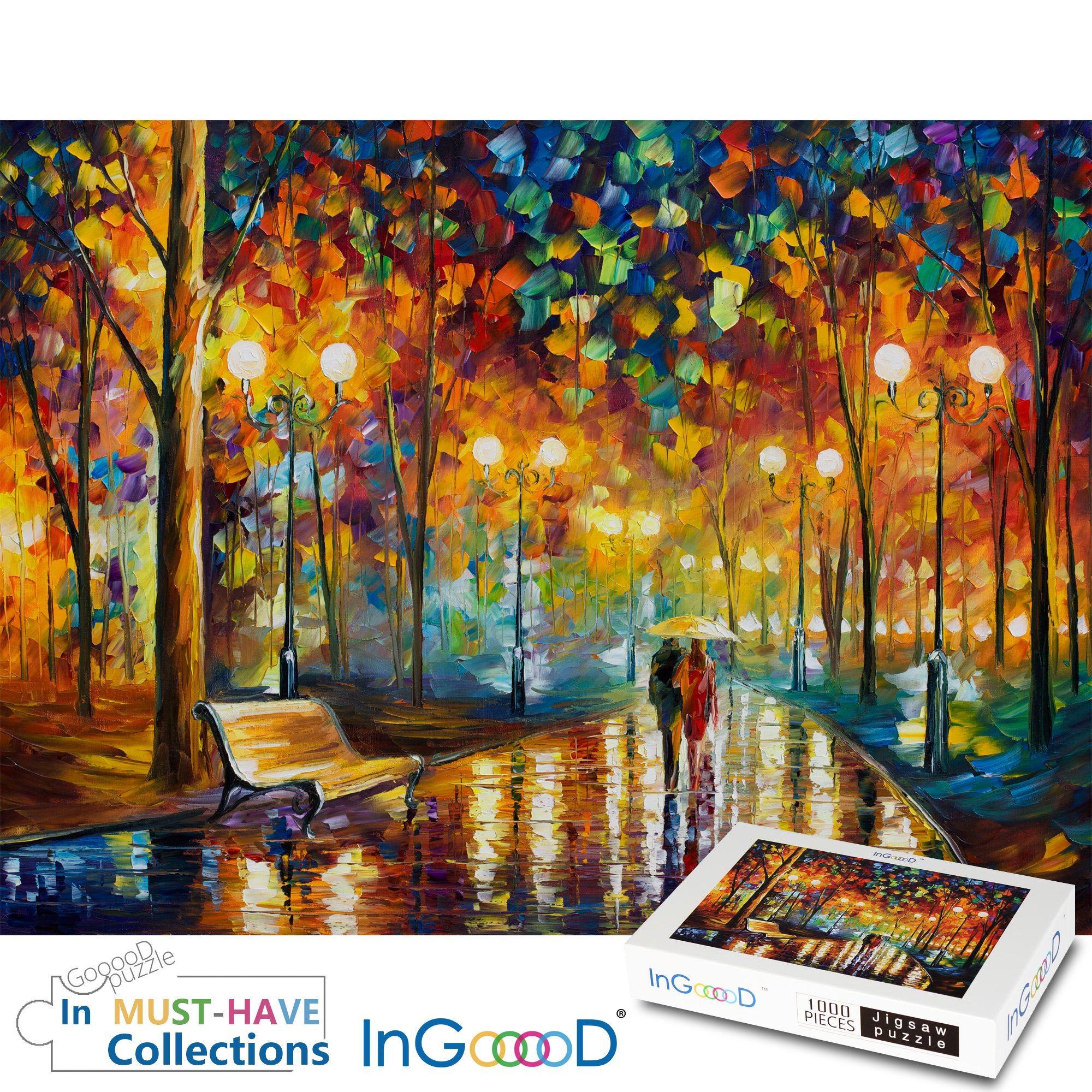 Ingooood Rainy Night Walk paper puzzle 1000 pieces by Ingooood