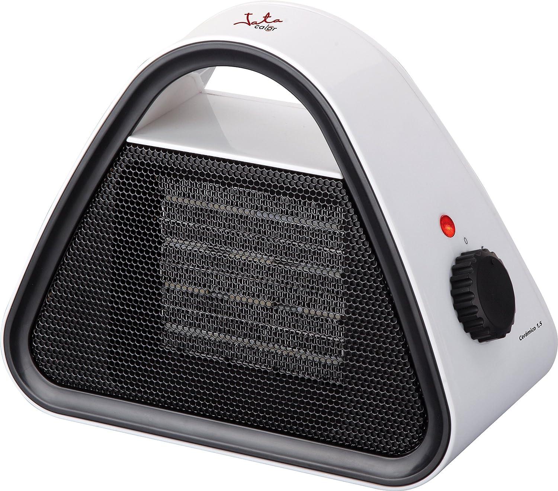 Jata TC85 Calefactor cer/ámico PTC 0 Decibeles Blanco con forntal y mandos negro silencioso 1500 W