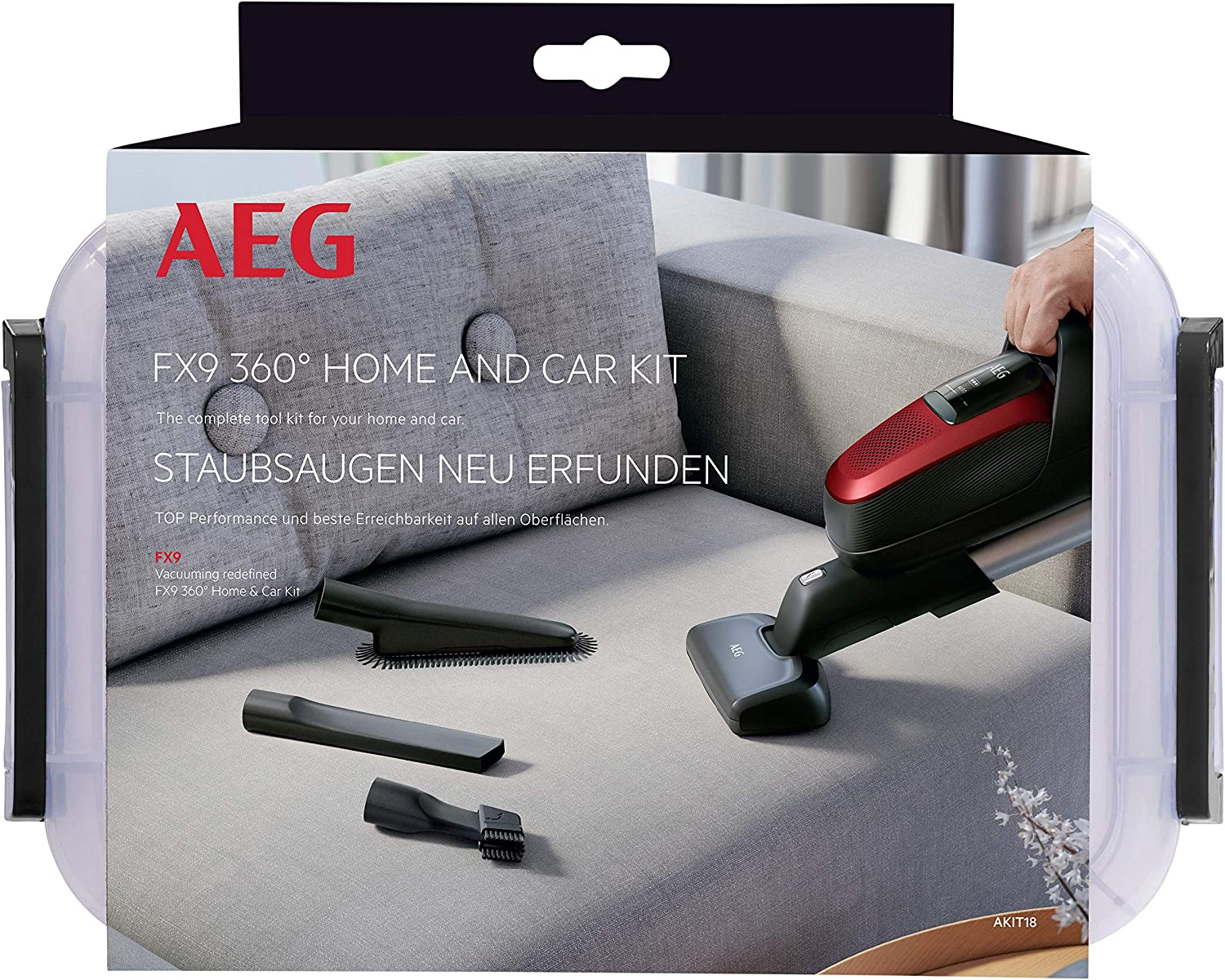 AEG AKIT18 - Kit 360 Home & Car de 4 Accesorios para manter casa y ...