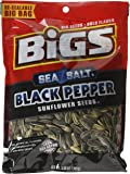 Bigs Sea Salt and Black Pepper Sunflower Seeds, 5.35 Ounce (Pack of 3)