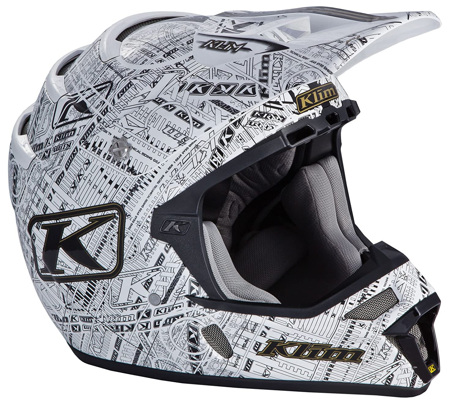 Amazon.com: Klim F4 Mens Ski Snowmobile Helmet - Stealth/White / 2X-Large: Automotive