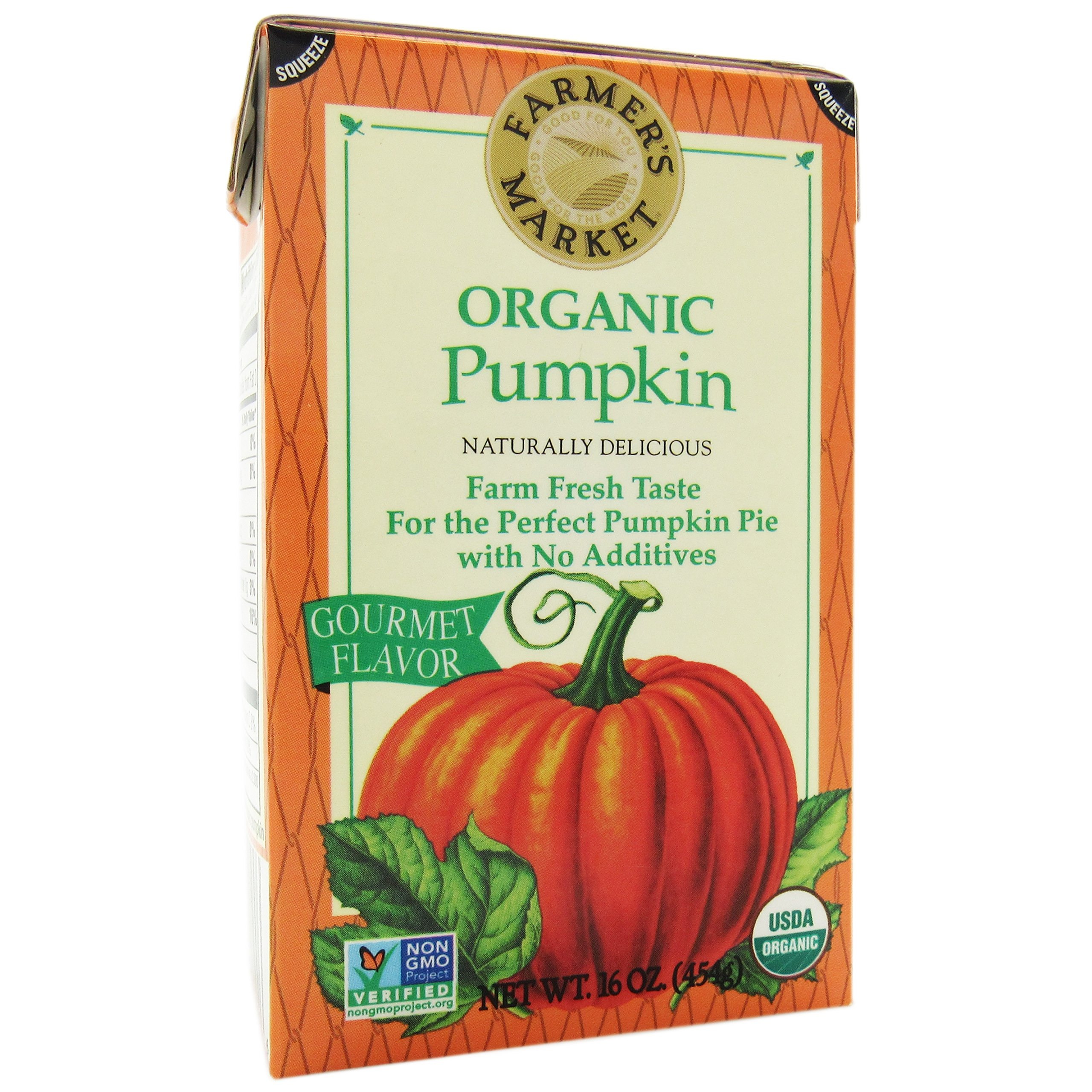 Farmers Market Organic Pumpkin-Puree-16 oz