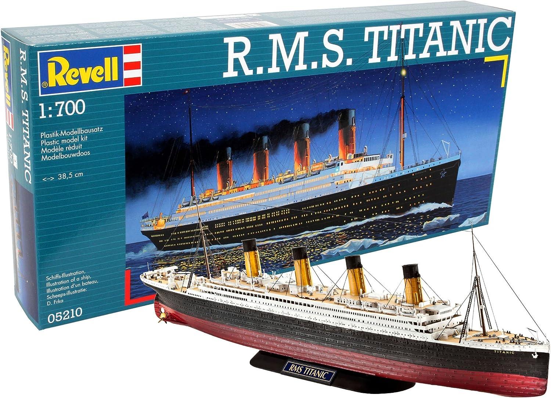Revell- RMS Maqueta R.M.S. Titanic, Kit Modello, Escala 1:700 (5210) (05210), Multicolor