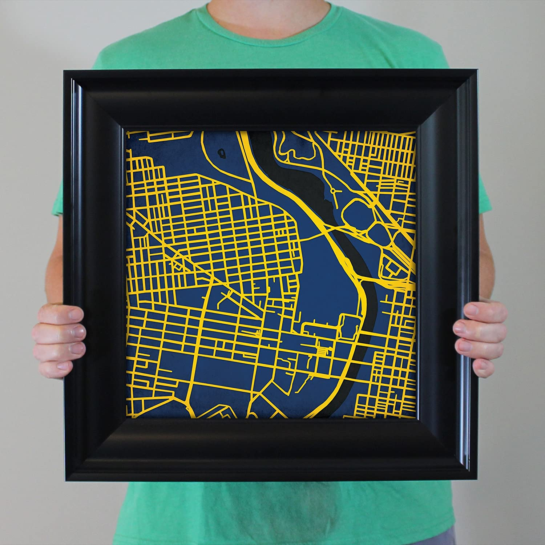 Amazon.com: Drexel University Campus Map Art, 16.5