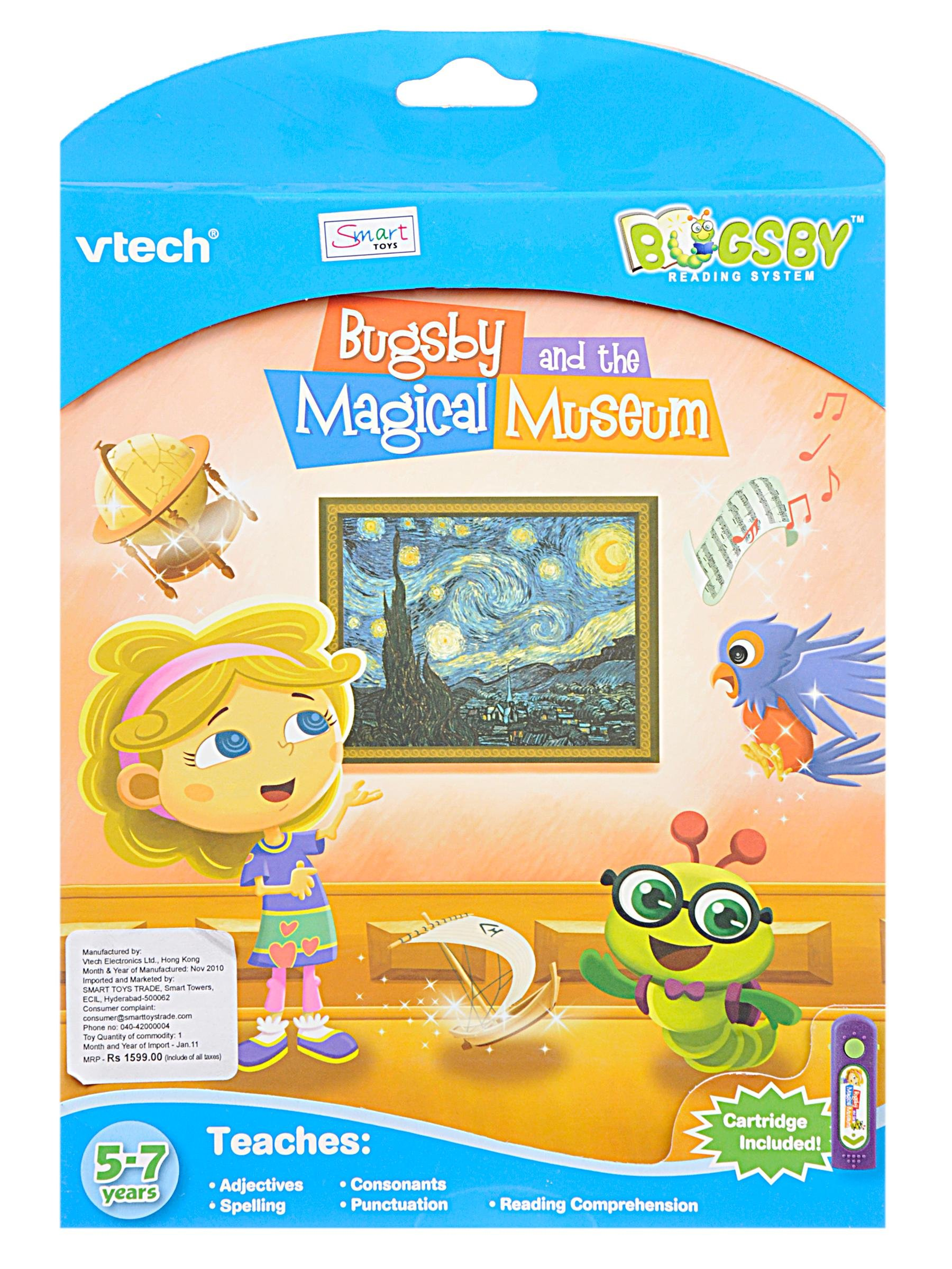 VTech Bugsby Reading System Book - Bugsby and The Magical Museum