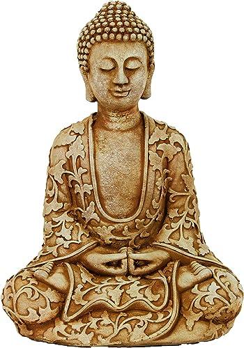 Lotus Buddha Home and Garden Statues Meditating Sitting Buddha