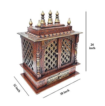 Buy The Dna Group Wooden Temple Pooja Mandir Pooja Mandap Wall