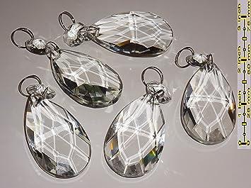 Kronleuchter Kristall Ersatzteile ~ Durchsichtige kronleuchter tropfen 5 stück große auswahl an