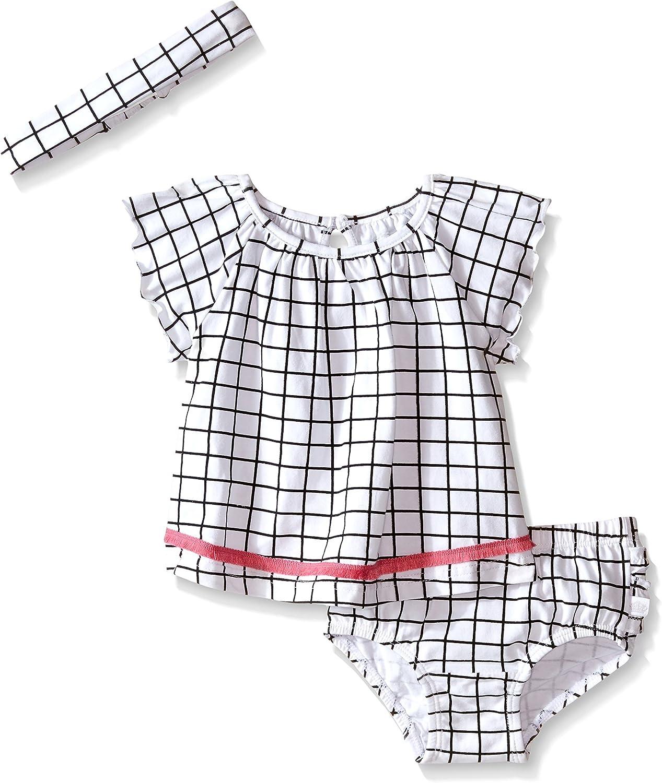 Rosie Pope Baby Girls Little Baby Girls Checked 3 Piece Set with Matching Headband