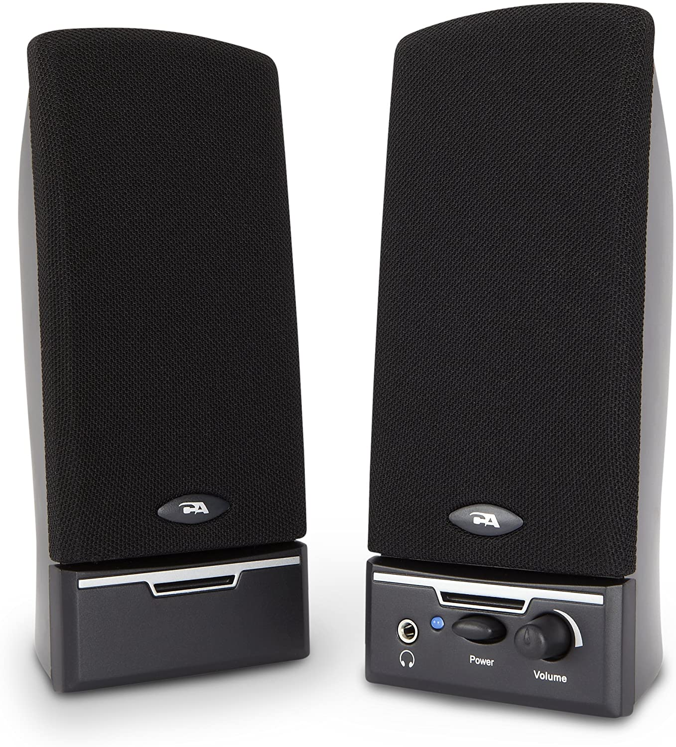Cyber Acoustics 2.0 Amplified Speaker System Delivering Quality Audio (CA-2014WB)